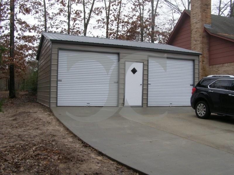 Side Entry Garage Vertical Roof 22w X 26l X 9h 2 Car