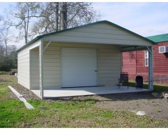 Utility Garage | Vertical Roof | 18W x 31L x 8H |  Combo Garage