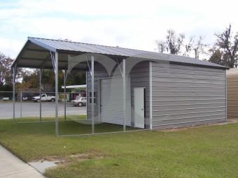 Utility Storage Garage | Vertical Roof | 22W x 36L x 10H | Combo