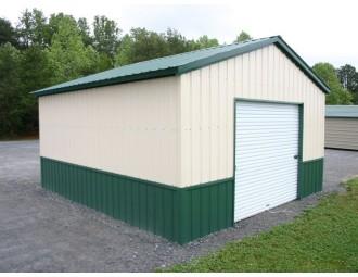 All Vertical Garage | Vertical Roof | 18W x 26L x 9H | 1-Car