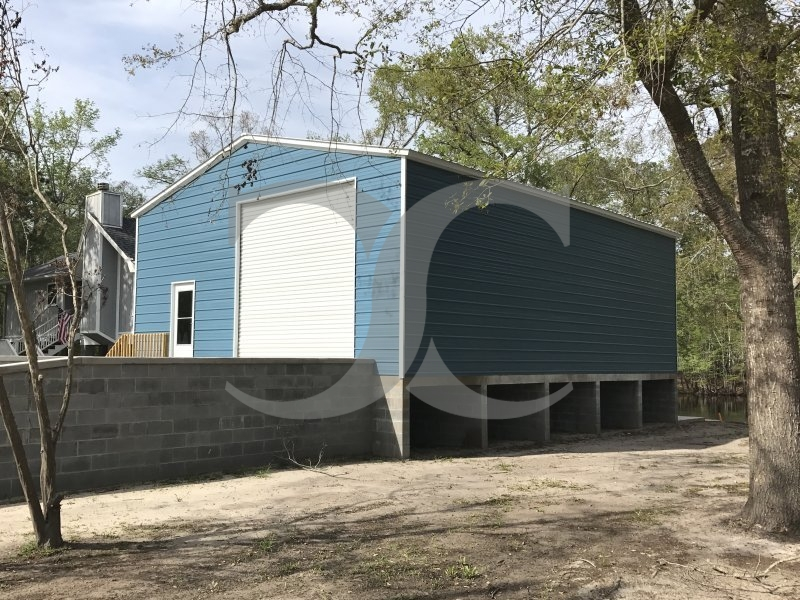 Enclosed Metal Workshop | Vertical Roof | 30W x 41L x 13H |  All Steel