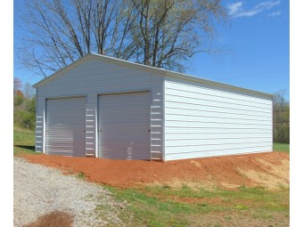 2-Car All-Steel Garage | Vertical Roof | 22W x 31L x 9H |  Metal Garage