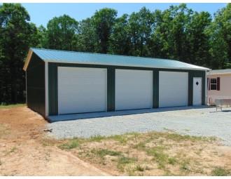 Garage with Side Entries | Vertical Roof | 22W x 41L x 9H | Metal Garage