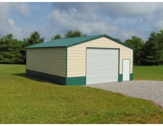 Workshop Building | Vertical Roof | 24W x 31L x 10H | Steel Building