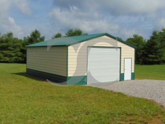 Workshop Building | Vertical Roof | 24W x 31L x 10H | Steel Building