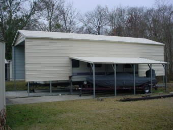 Carport | Vertical Roof | 12W x 41L x 11H