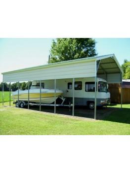 Carport | Vertical Roof | 18W x 36L x 12H RV Boat Carport