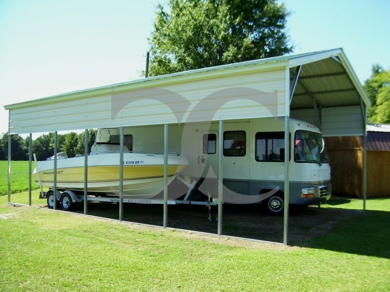 Carport | Vertical Roof | 18W x 36L x 12H RV and Boat Carport